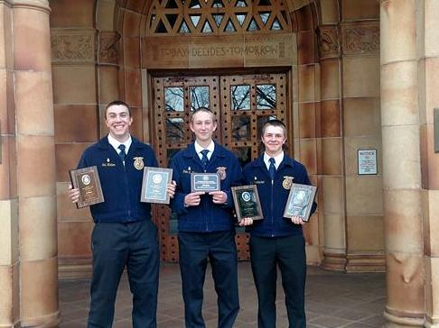 Congratulations Tulelake FFA! 4 proficiencies and a Star Placement! Congrats to  Sid Walker on Forest Management and Diversified Ag Production, Will Schumacher  for Forage Production and Ag Processing, and Gus Macy for Star Placement! On to  State!!! Randy Lund