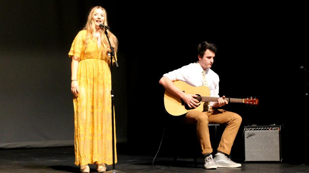 Students performing at THS Baccalaurate