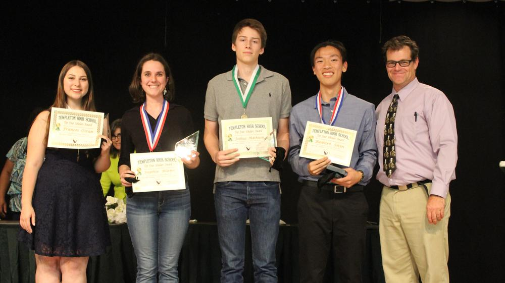 THS Top Four Scholars from Evening for the Stars