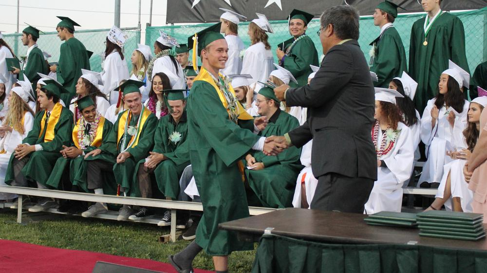 THS students receiving their diplomas