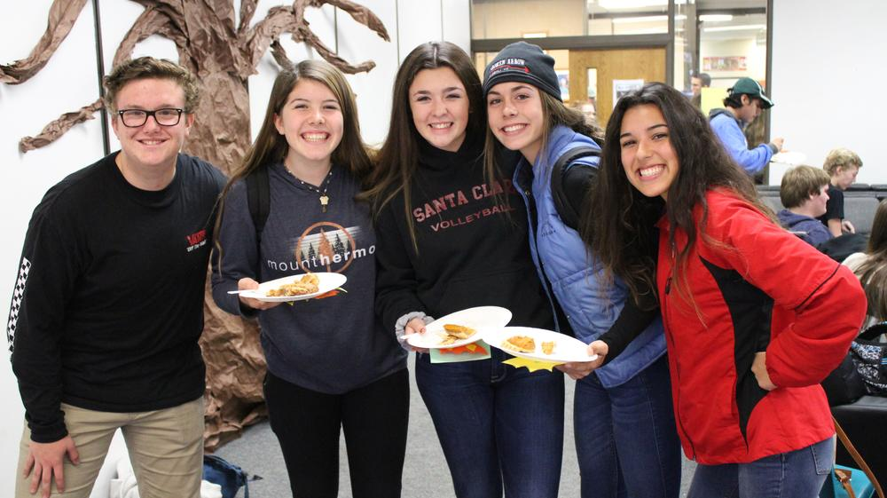 Link Crew s annual pie day celebration. A day to be thankful and celebrate with  our freshmen.