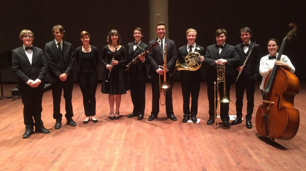 THS students who were named to the SLO County Honor Band