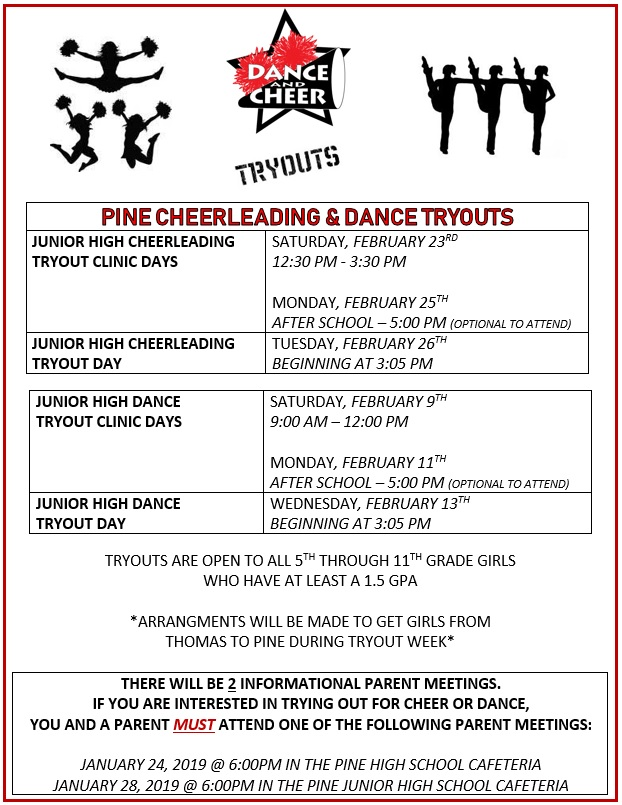 cheer dance tryouts
