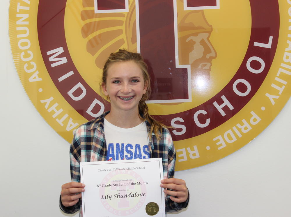 Image of 7th grade student of the month Wendy Ocampo