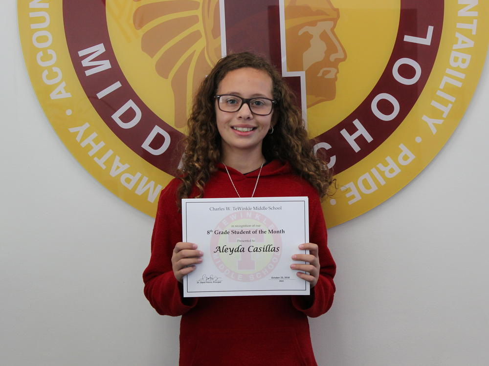 image of 8th grade Student of the Month - Aleyda Casillas