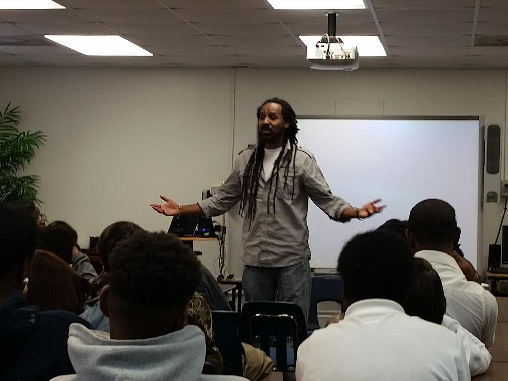 Guest speaker at Transitions Learning Center