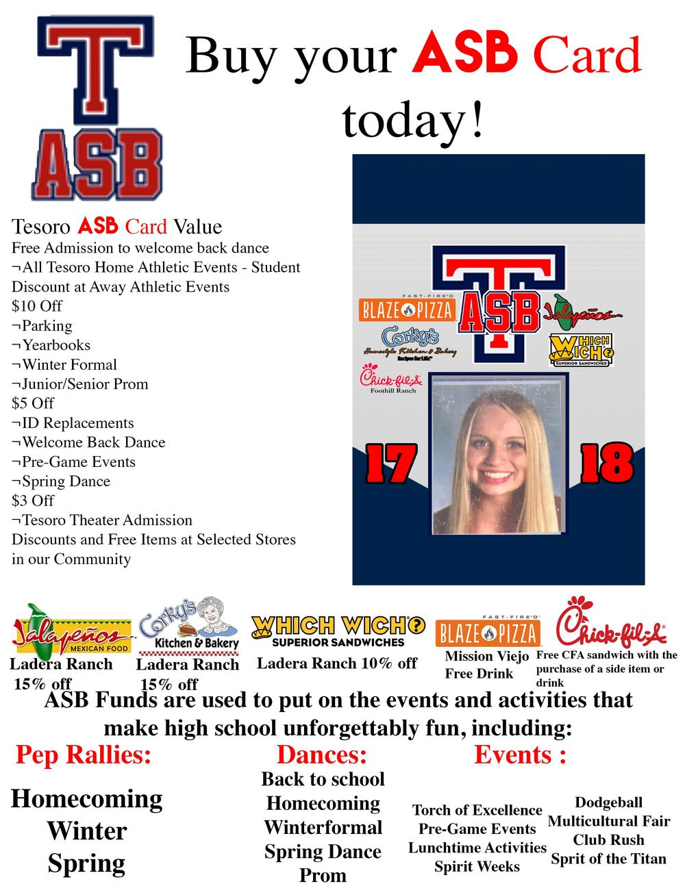 ASB Card information
