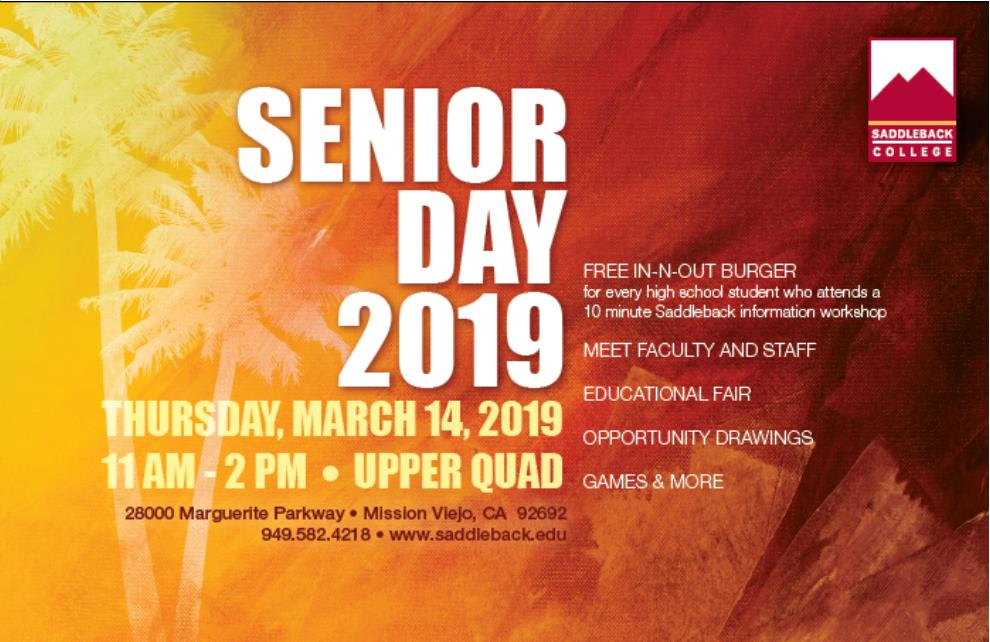 Senior Day 2019 flyer