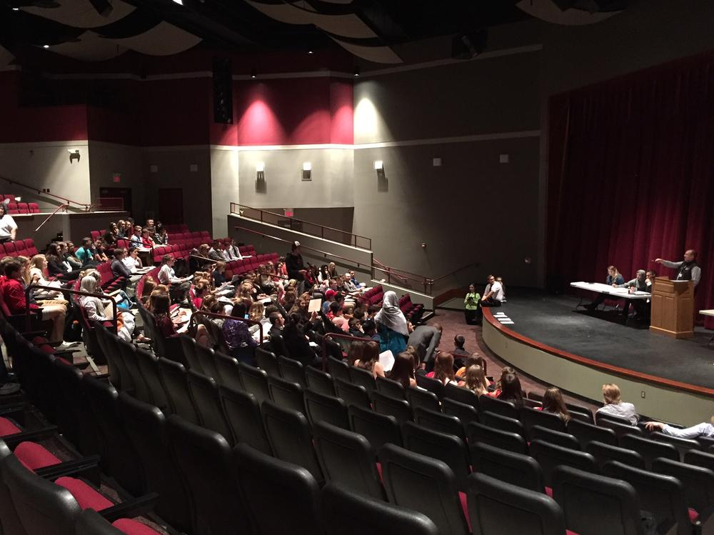 UN Day activities at the UHS Fine Arts Center