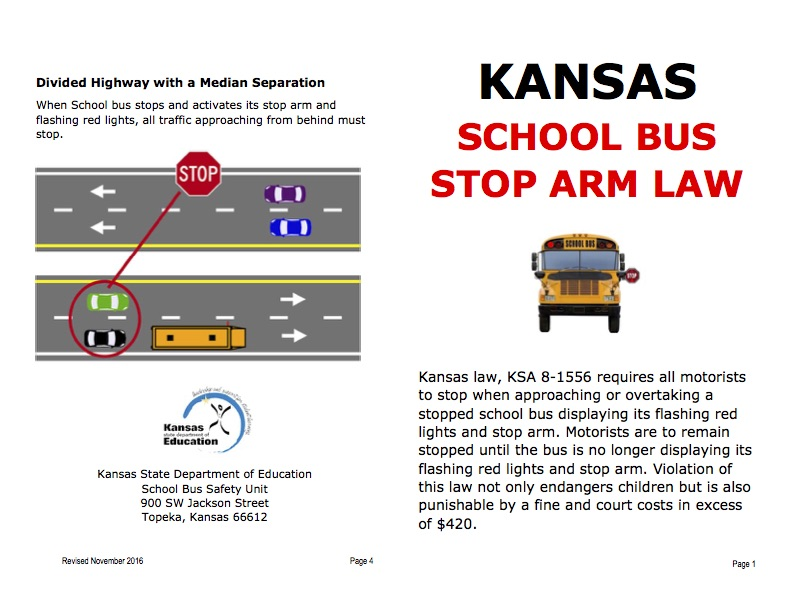 Kansas School Bus Stop Arm Law
