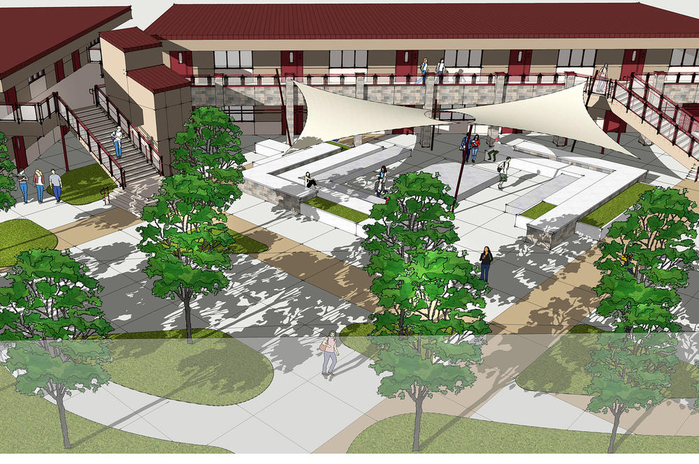 VHS Classroom building rendering