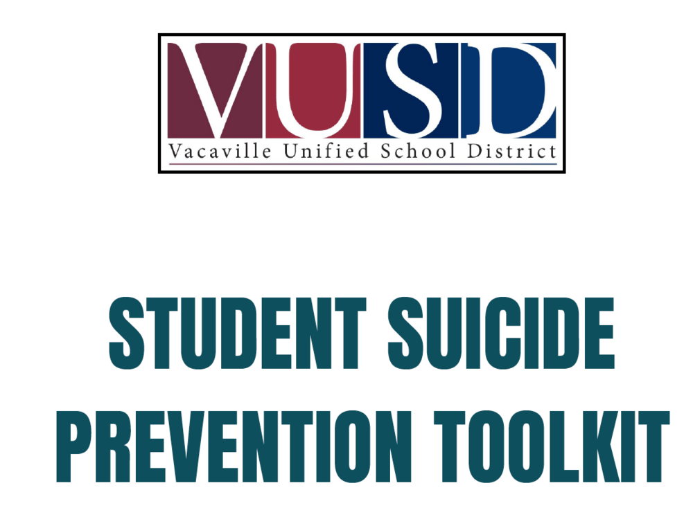 VUSD suicide prevention toolkit