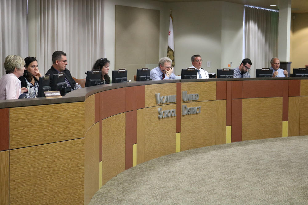 VUSD Board room during meeting