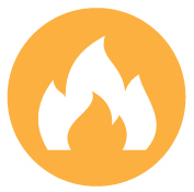 Fire Evacuation icon flames