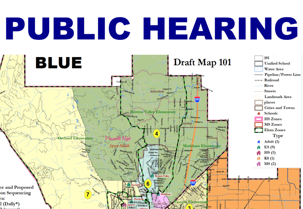 public hearing with map