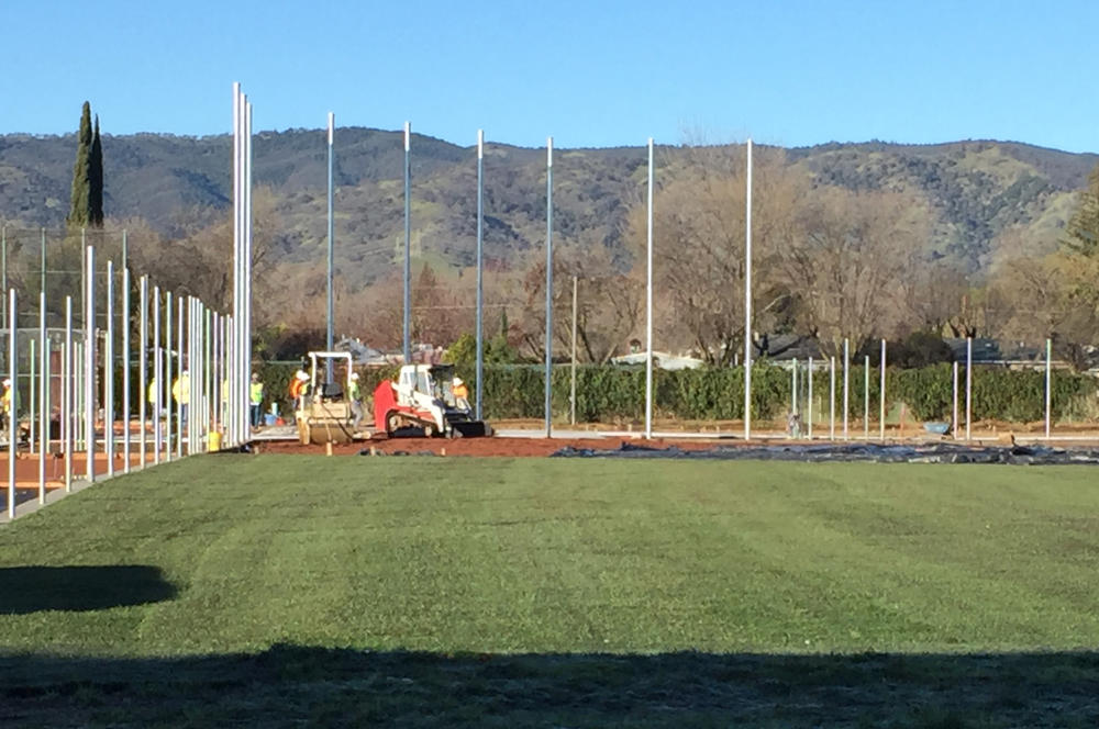 VHS Softball field almost complete