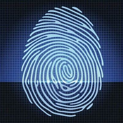 digital background with fingerprint