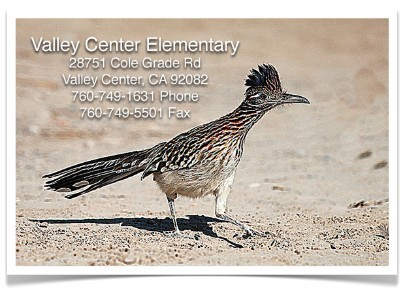 Valley Center Elementary Address Banner