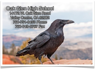 Oak Glen High School Address Banner