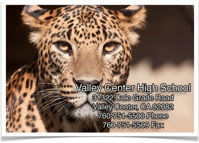 Valley Center High School Address Banner