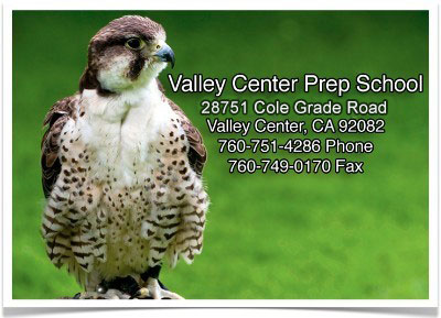 Valley Center Prep School Address Banner