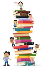 kids-climb-a-stack-of-books