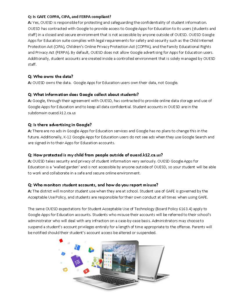 Google for Education  GAFE  Parent Letter September 2016 - English Page 2