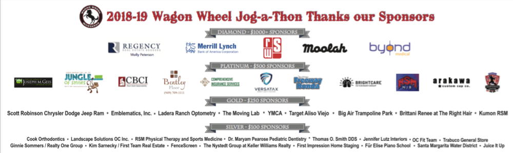 Our Jog-a-thon Sponsors
