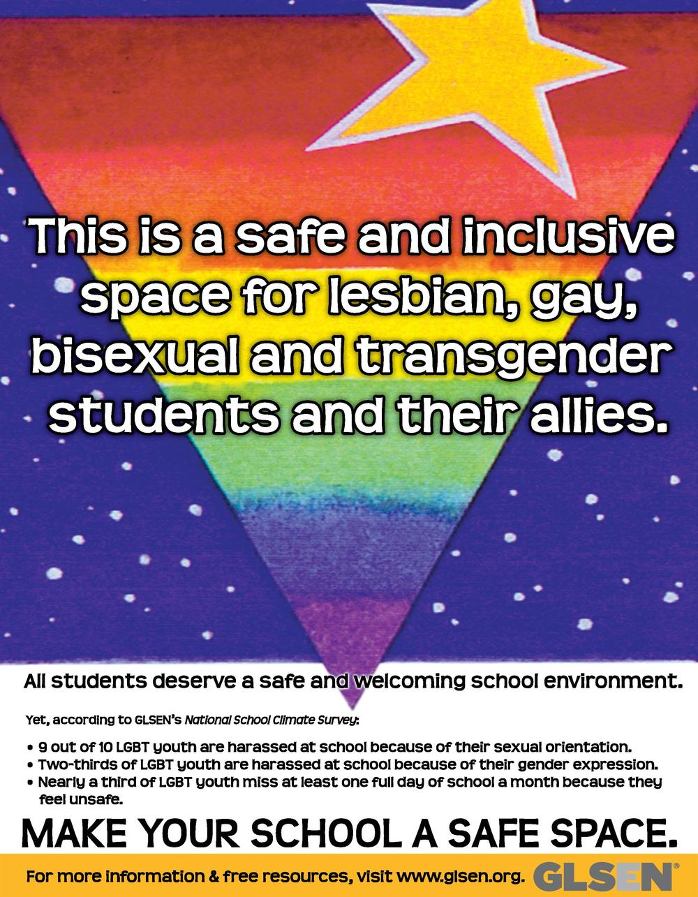 This is a safe and inclusive space