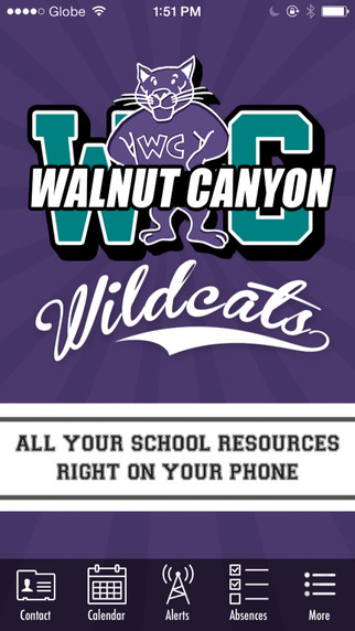 Walnut Canyon mobile app home screen