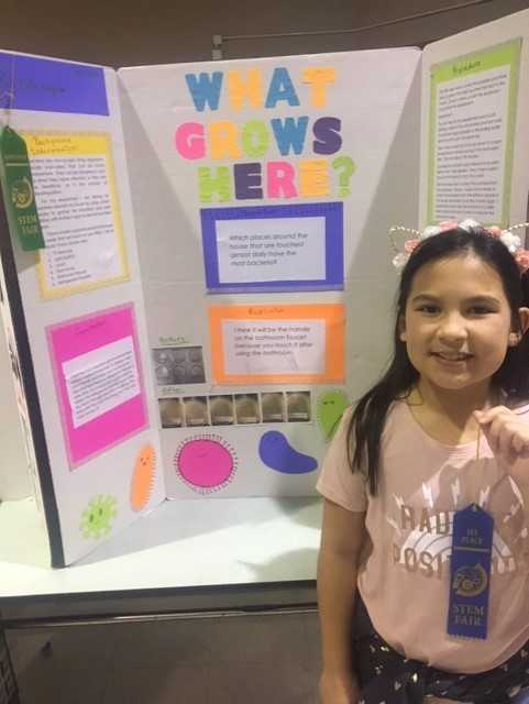 Young lady STEM winner