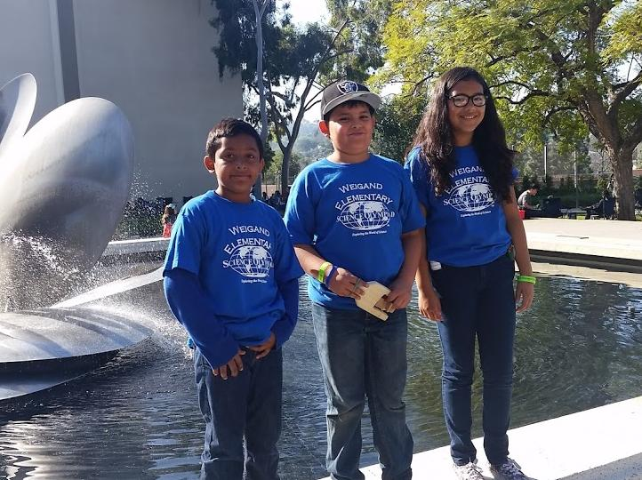 Weigand earned bronze medals at the Science Olympiad Competition February 27th  at Occidental College!