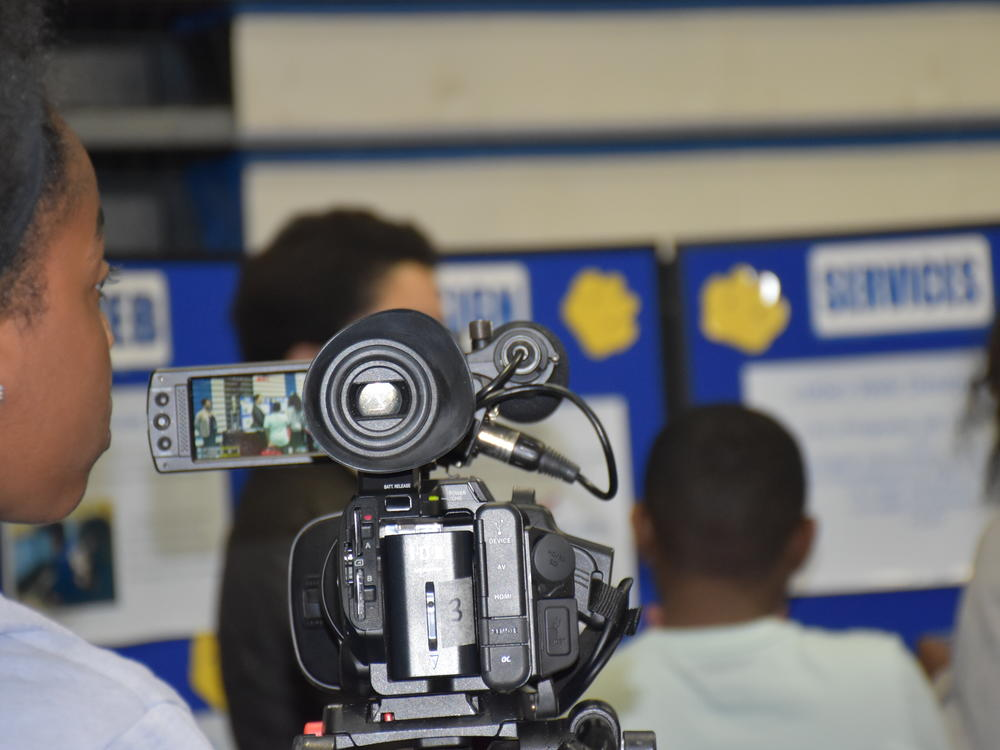 Multimedia Academy--filming the School Choice Expo