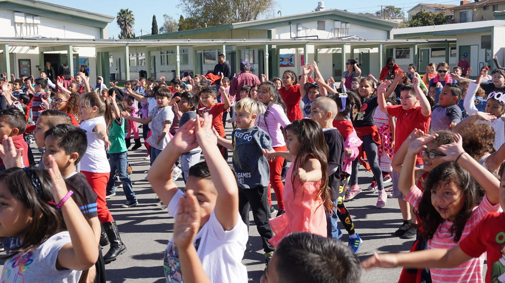 Picture of William Green Students Dancing