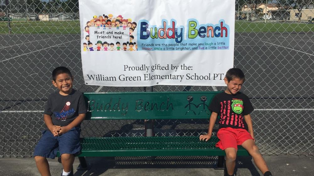 Thank you PTA for our Buddy Bench!