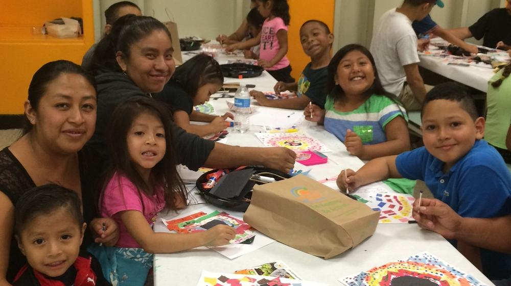 Students and their Families enjoy P.S Arts.