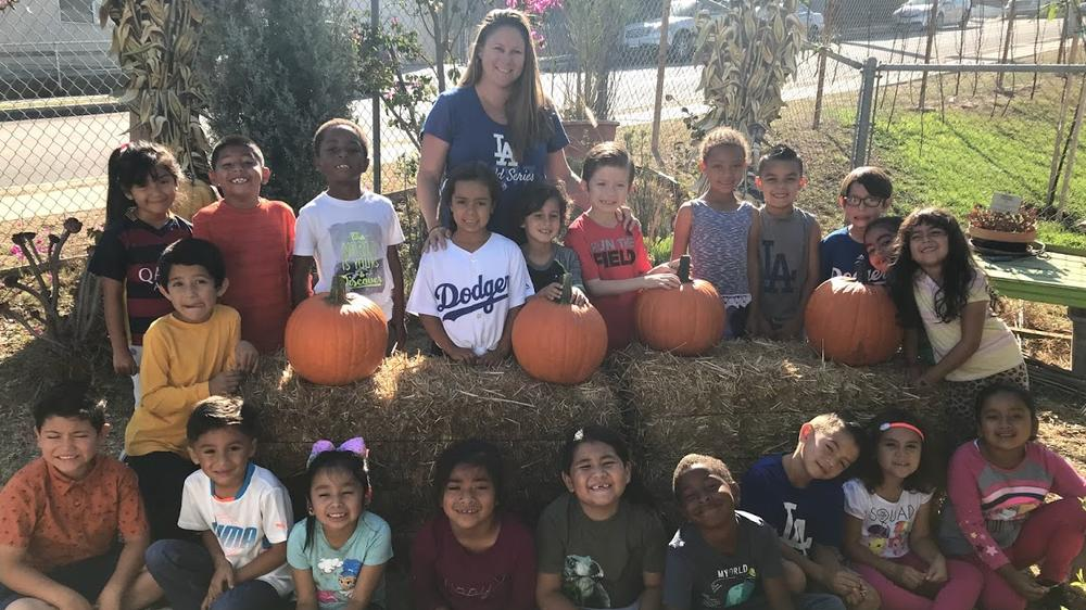 Ms. Chaves and her Class at the Fall Festival