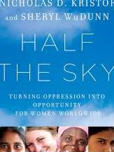 Half the Sky by Sheryl WuDunn and Nicholas D. Kristof, from Teen Read Week