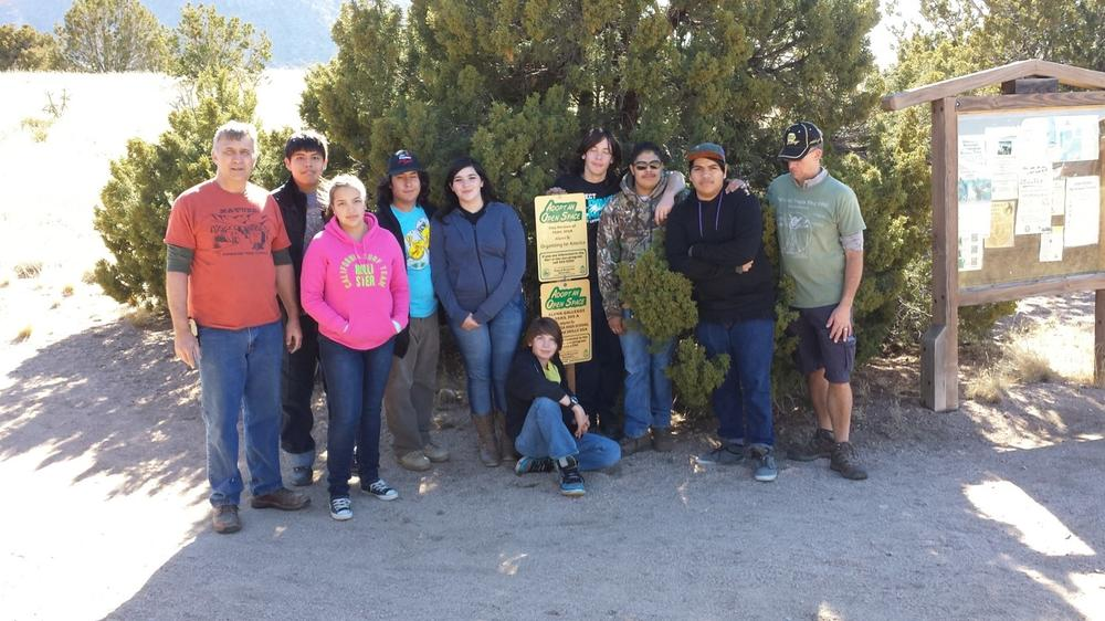 DECA and Skills USA adopted an Open Space at the Elena Gallegos Trail