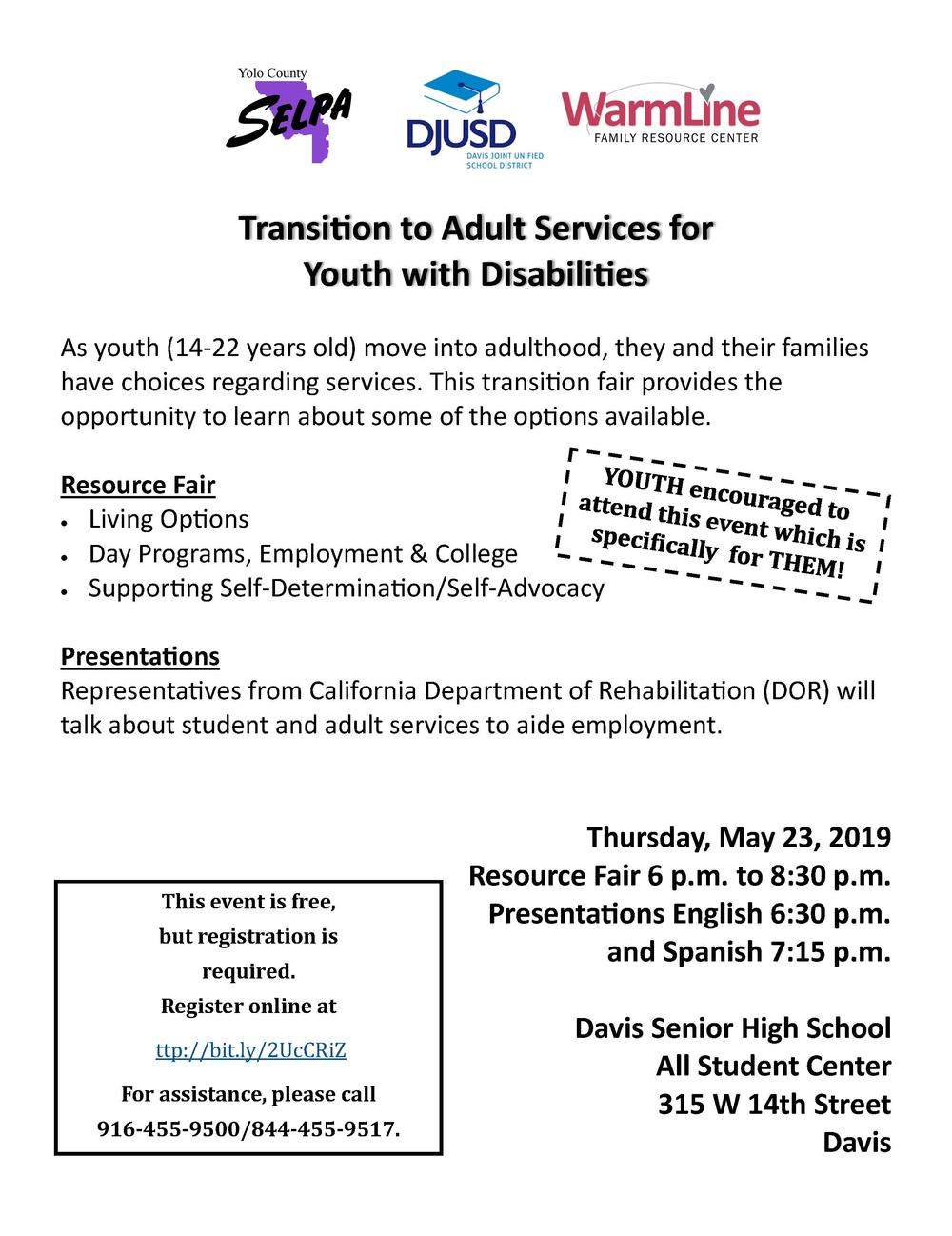 Transition to Adult Services for Youth with Disabilities