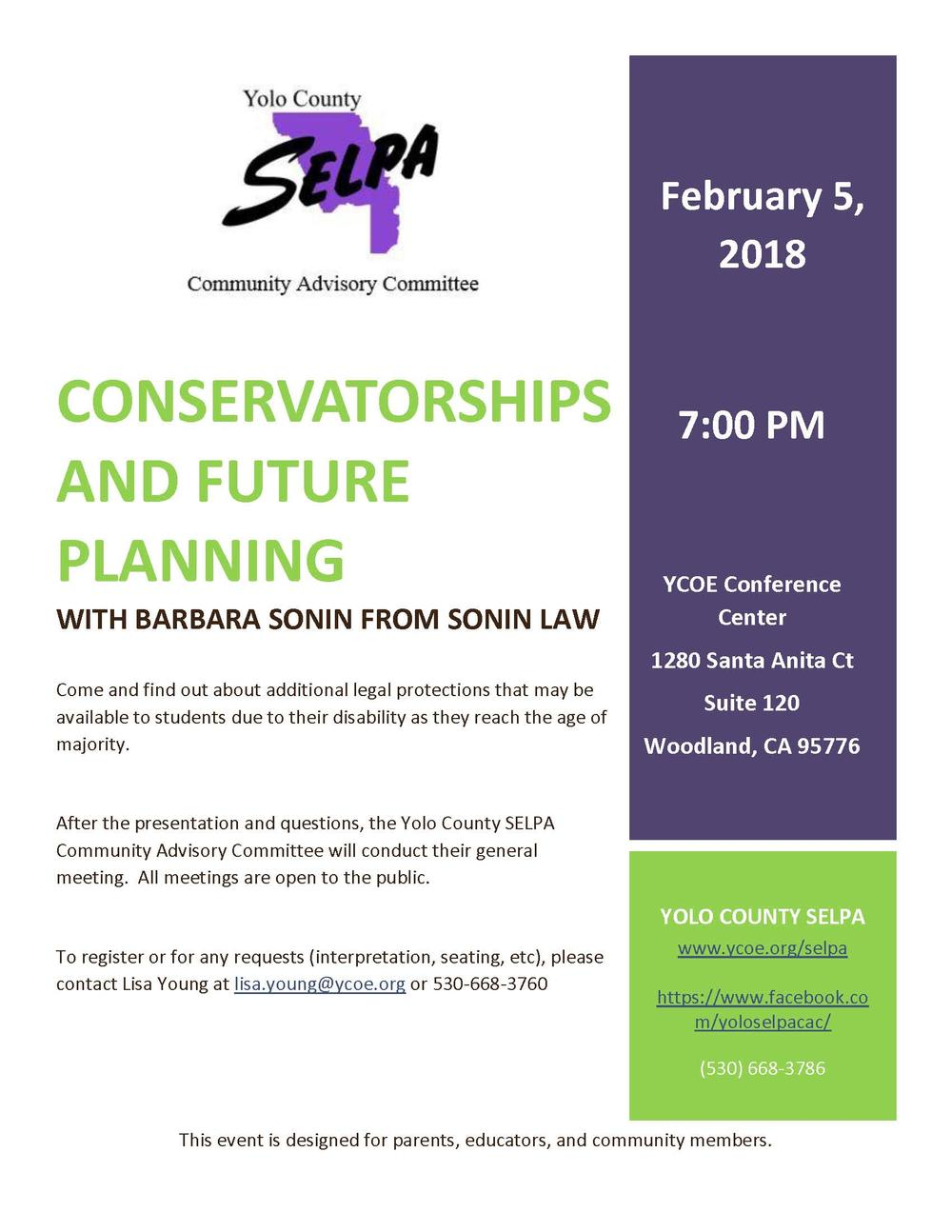 Conservatorships and Future Planning