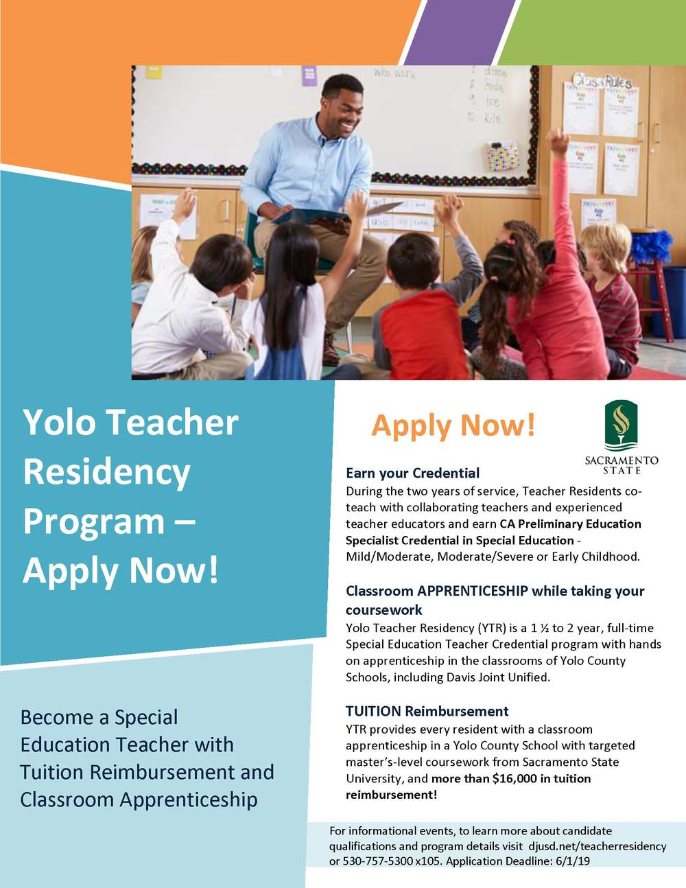 Teacher Residency Program Flyer