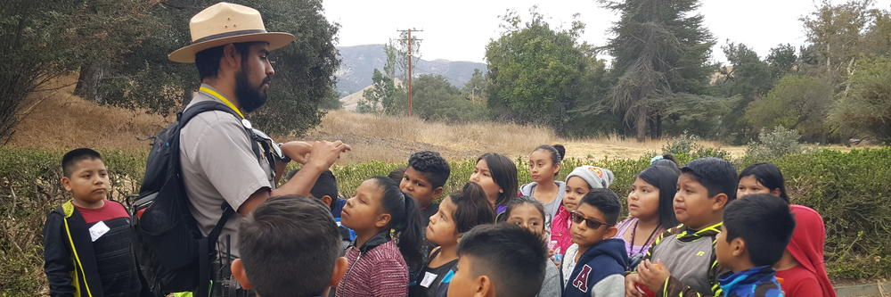 Ranger Luis takes students on a Nature Hike