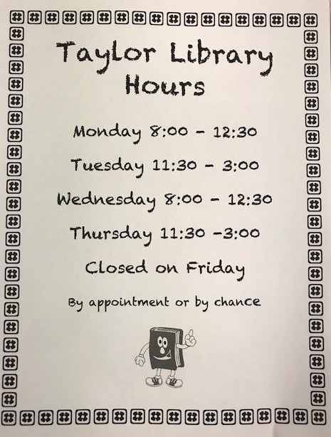 Taylor Library Hours