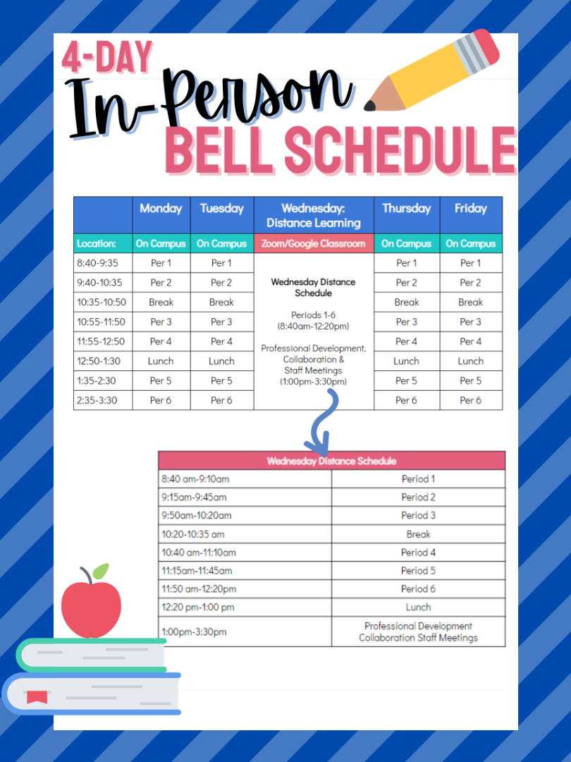 4 DAY IN-PERSON BELL SCHEDULE