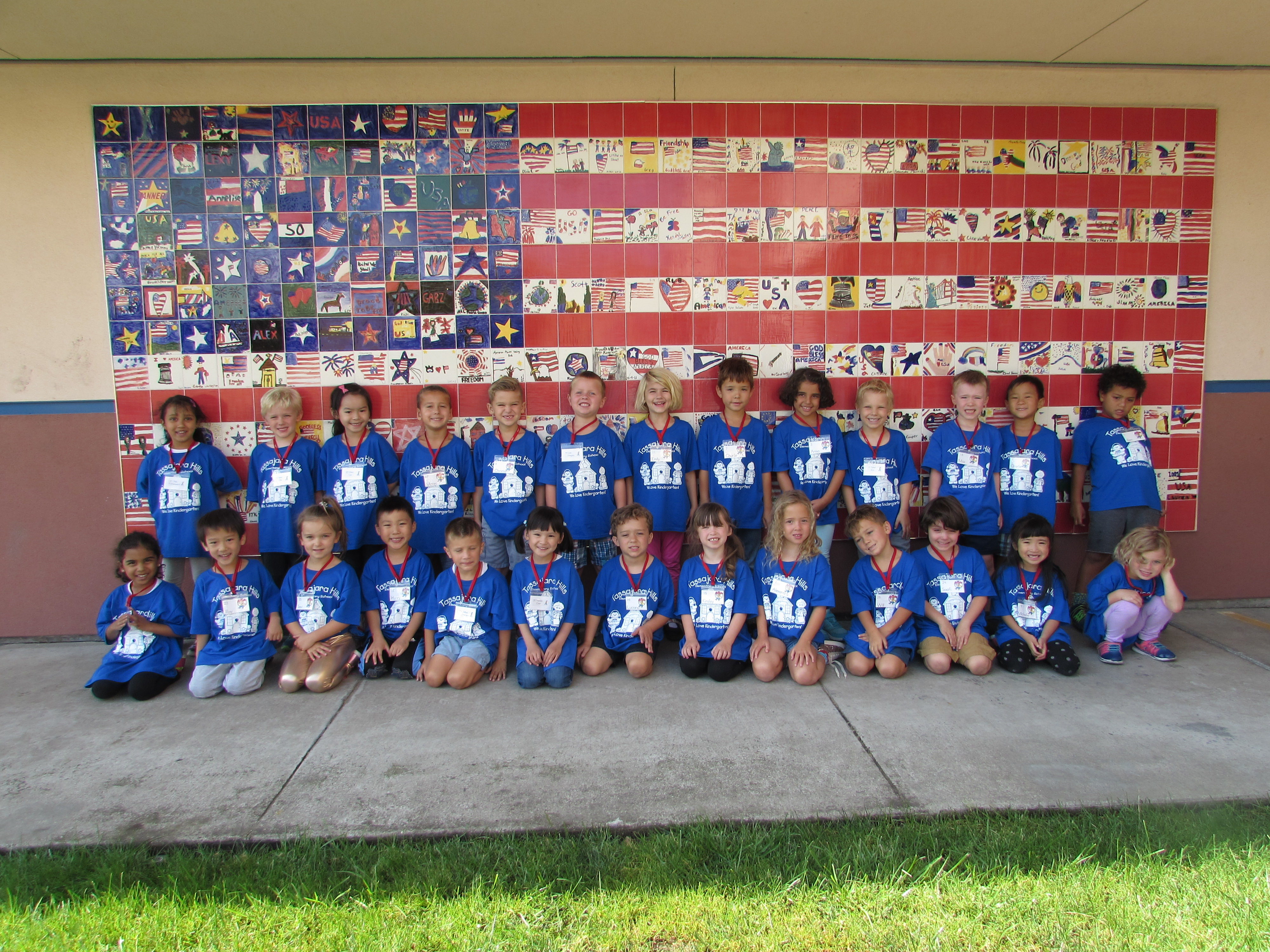 We love our blue shirts! August 2018
