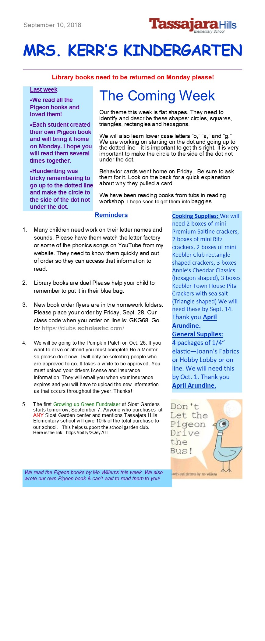 This Week's Newsletter