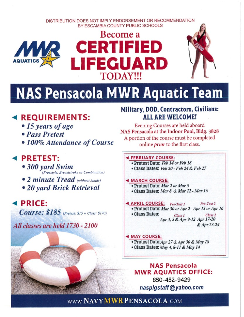 NAS Pensacola MWR Aquatic Team