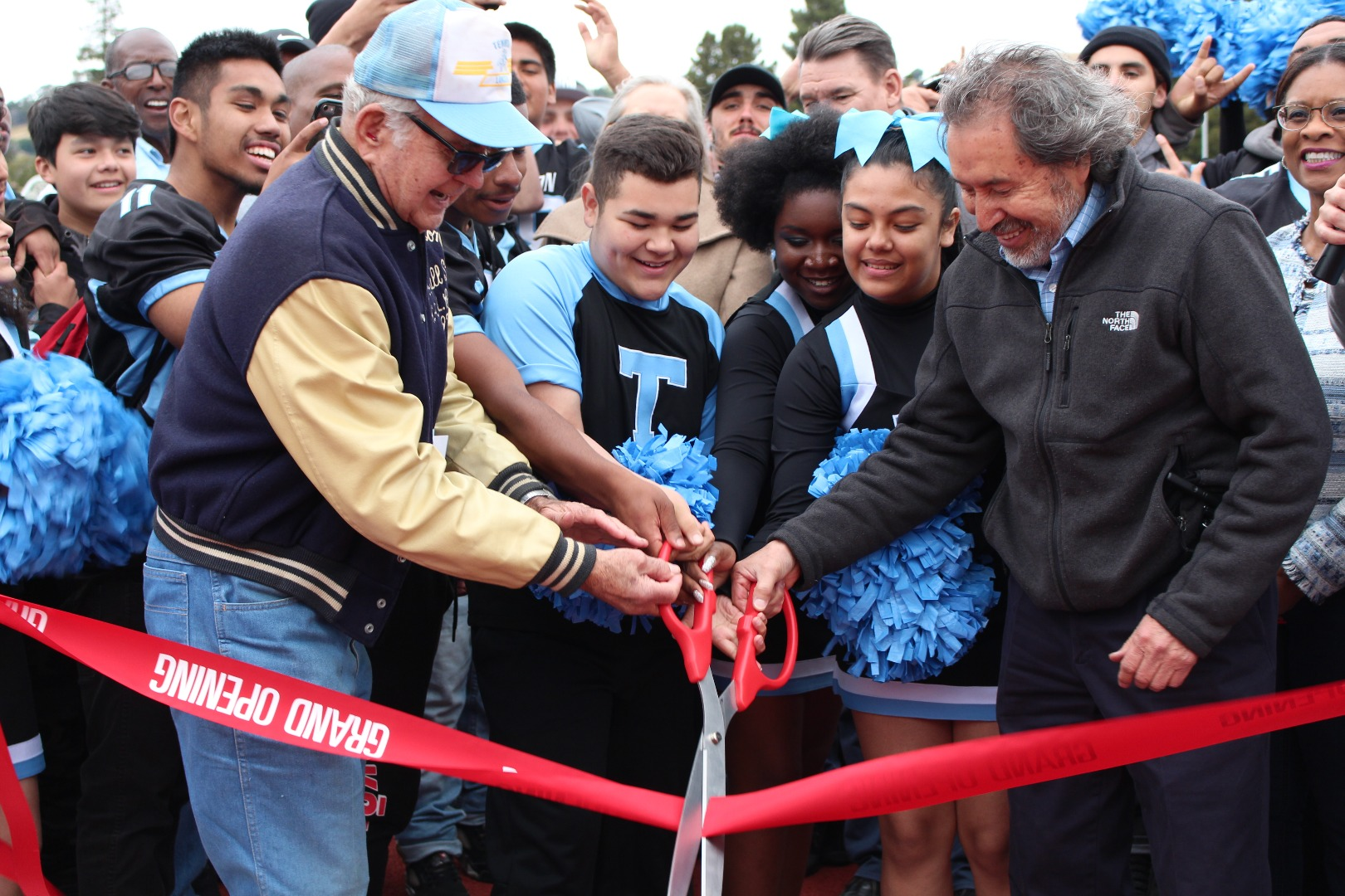 Tennyson field ribbon-cutting