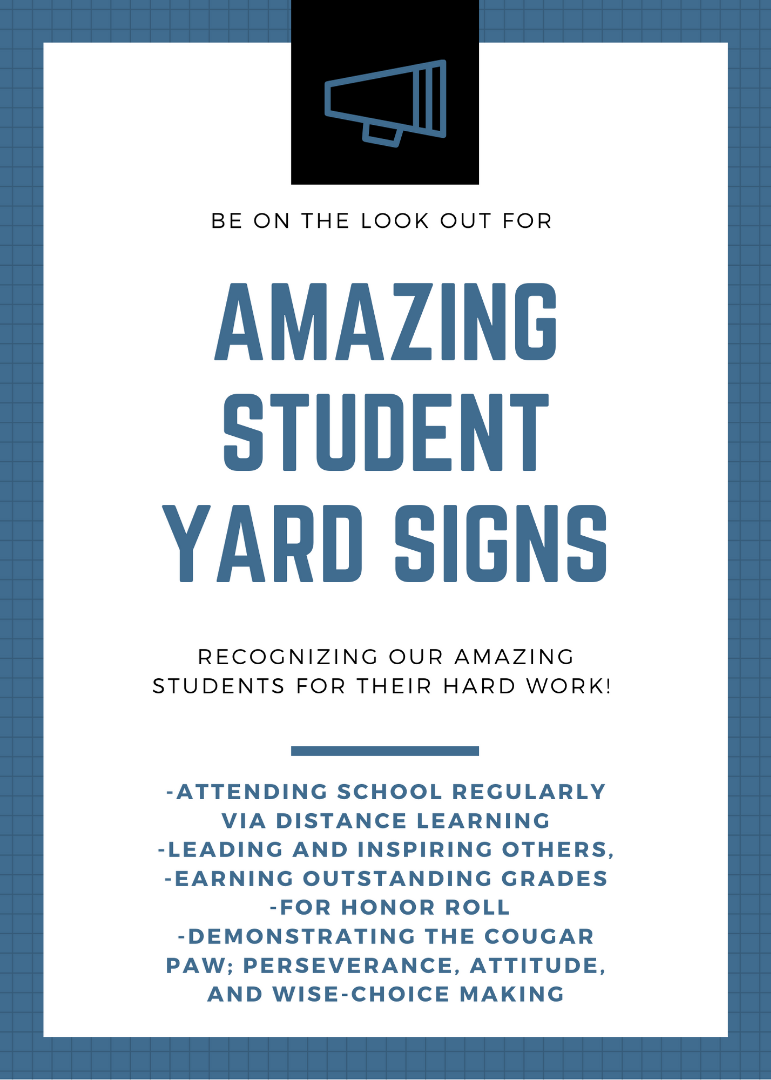 Amazing Student Yard Signs
